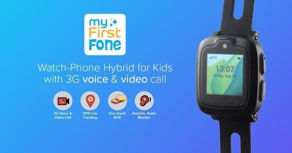 子どもの見守り機能を搭載 腕時計型スマホ「myFirstFone」