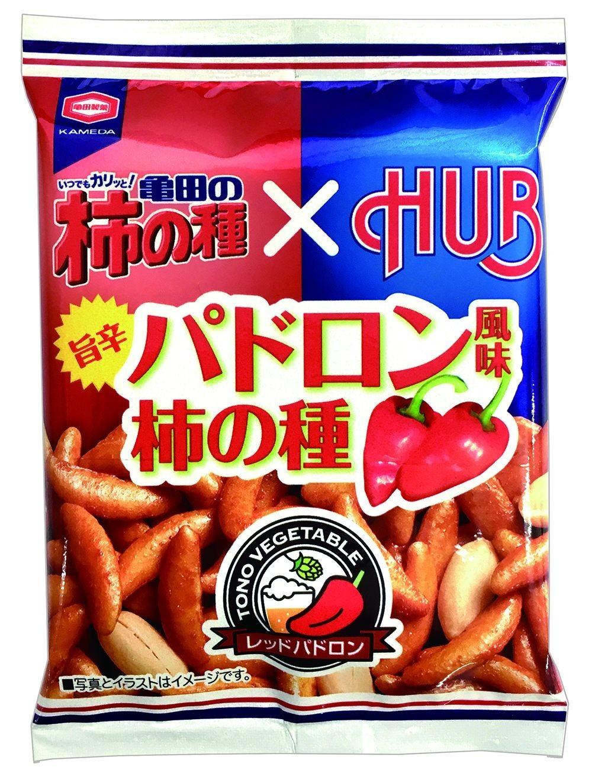 「亀田の柿の種 パドロン風味」 ほどよい辛さとカリッとした食感