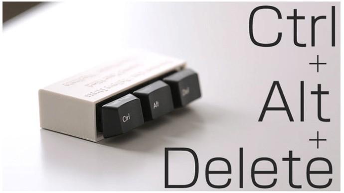 「Ctrl+Alt+Delete」で気持ちを「再起動」 手遊びガジェット