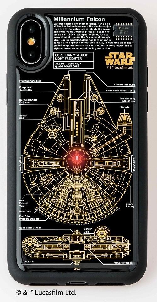 「ミレニアム・ファルコン」を基板の配線で描いたiPhoneケース