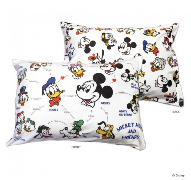 ディズニーキャラクターの名場面をプリント 枕カバー全4種