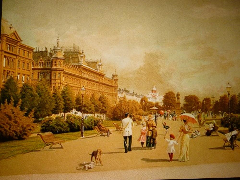 1890年代のヘルシンキの様子を描いた絵画