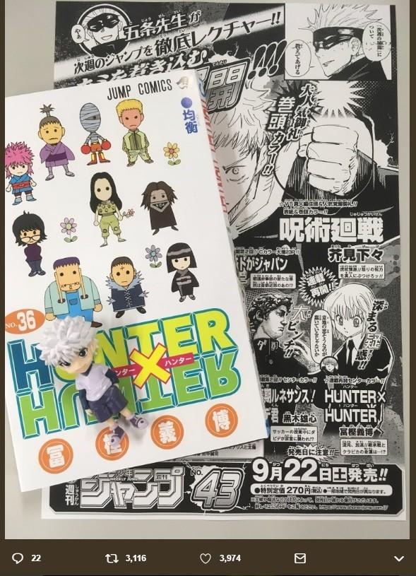 「ハンター×ハンター」36巻表紙に意味深な「花」 「不吉な暗示」想像するファンも