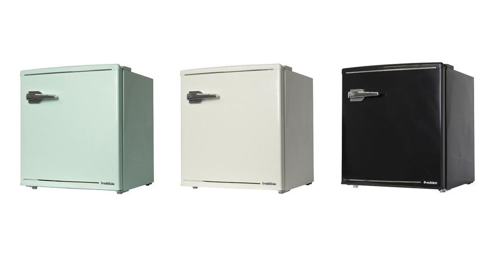 1人暮らしや寝室にも最適 小型でも大容量「レトロな冷蔵庫」