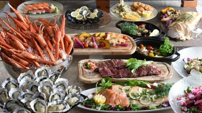 蟹も牡蠣も食べ放題、温泉フリーパスまで付いた宿泊プラン