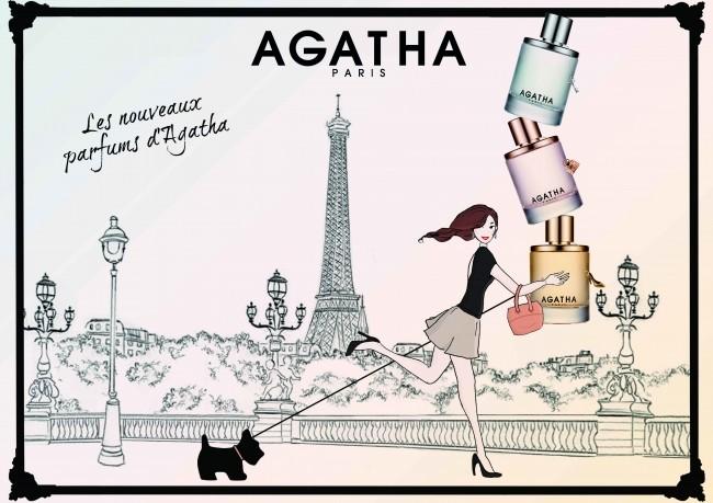 パリ発アクセサリーブランド「アガタ」からチャーム付き香水3種