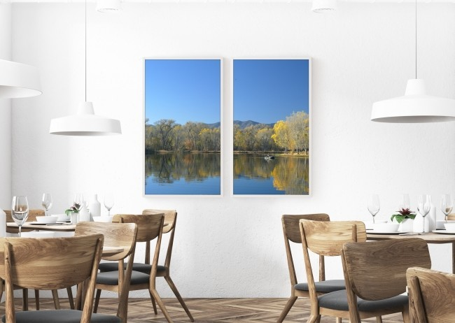 世界各地の景色を4Kで楽しめる 55型サイズ「デジタル窓」