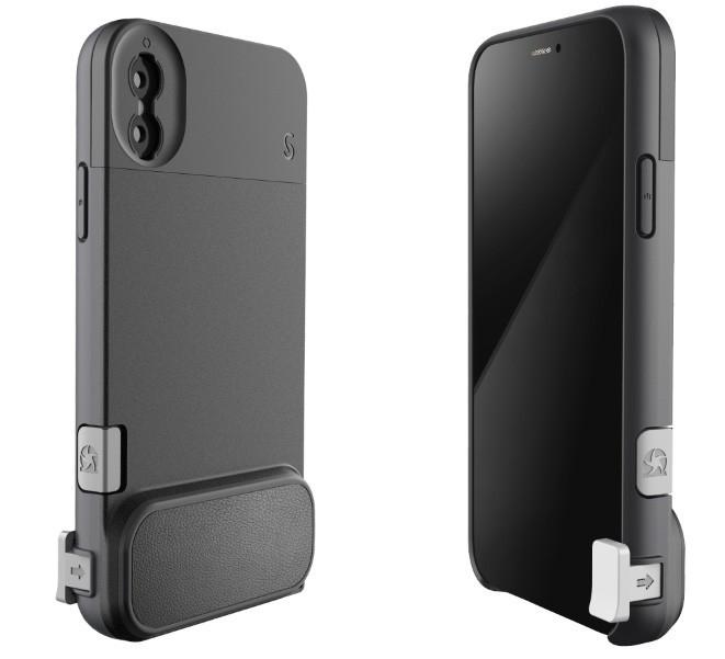 iPhoneが一眼レフカメラのように シャッター付きケース