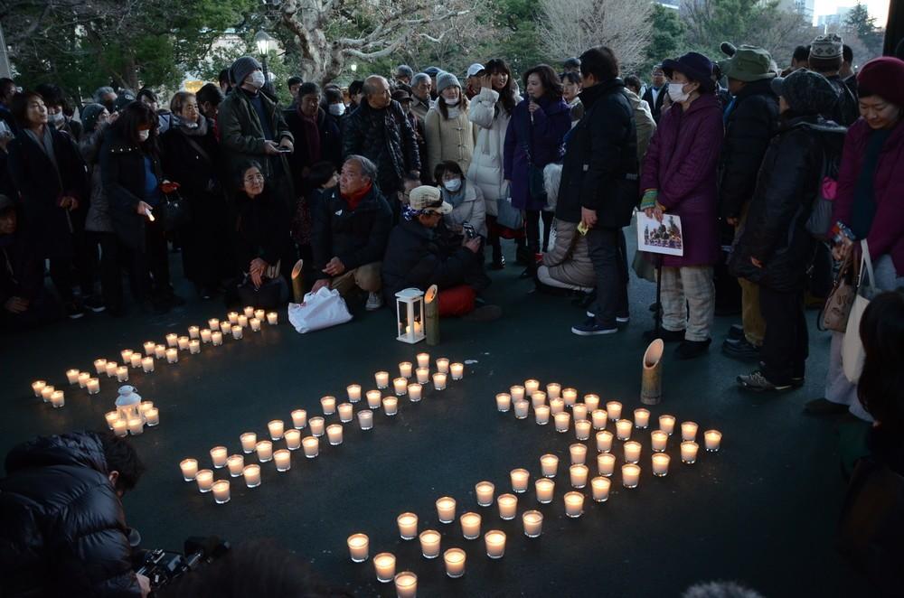 初の東京での追悼行事に集まった人たち