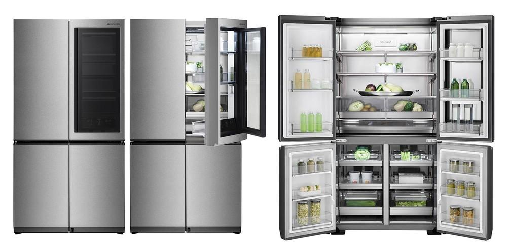 足をかざすとドアが開く冷蔵庫 ノックして中身を確認できる