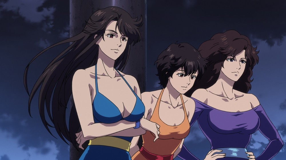 劇場版には、北条氏の名作「キャッツ・アイ」の美女3姉妹も登場