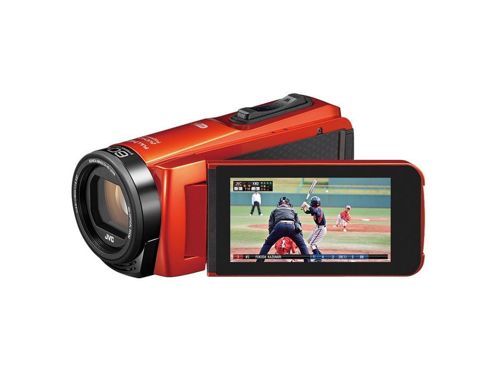 スマホと連携ビデオカメラ スポーツ中継のようなスコア情報を記録