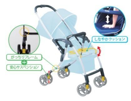赤ちゃんを振動から守る 「健やかな成長」サポートするベビーカー