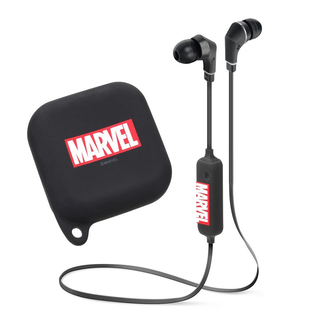 アメコミ「MARVEL」ロゴデザインのワイヤレスイヤホン