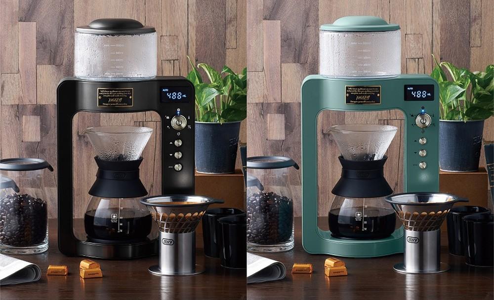 ハンドドリップのような味と香り 抽出工程が見えるガラス製コーヒーメーカー
