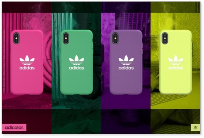 「アディダス」3本線デザイン iPhoneシリーズ向けケース3モデル