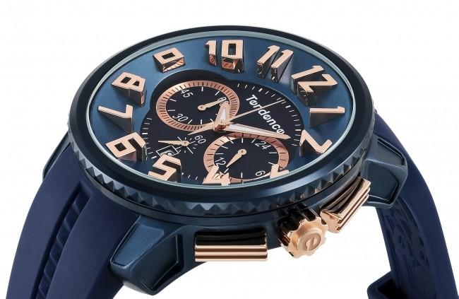 ネイビー&ローズゴールドカラー腕時計 「ALUTECH Gulliver」コレクション