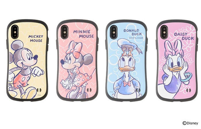 ディズニーキャラを水彩タッチで描いたiPhoneケース