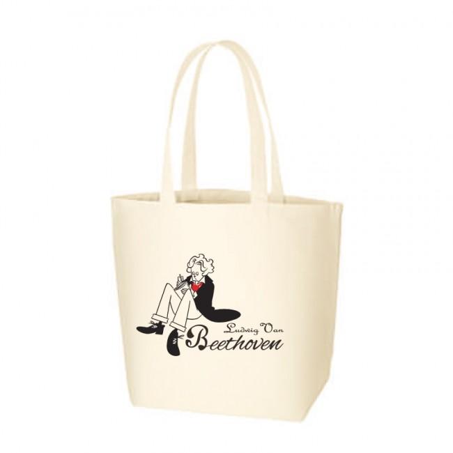 モーツァルトとベートーヴェンがTシャツとトートバッグに!