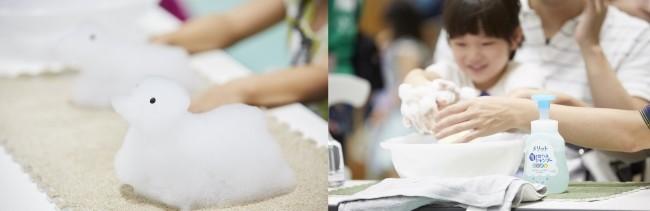 インスタで人気「泡アート」 楽しい入浴で育む親子の絆