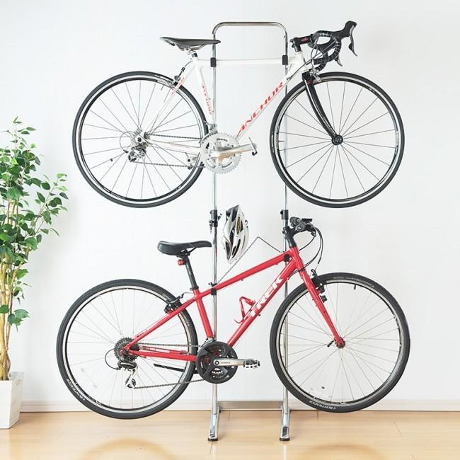大切な自転車を2台まで部屋に飾れる ディスプレースタンド