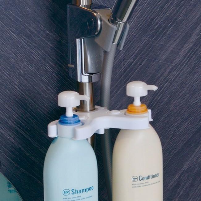 シャワースライドバーに装着できる便利グッズ3種