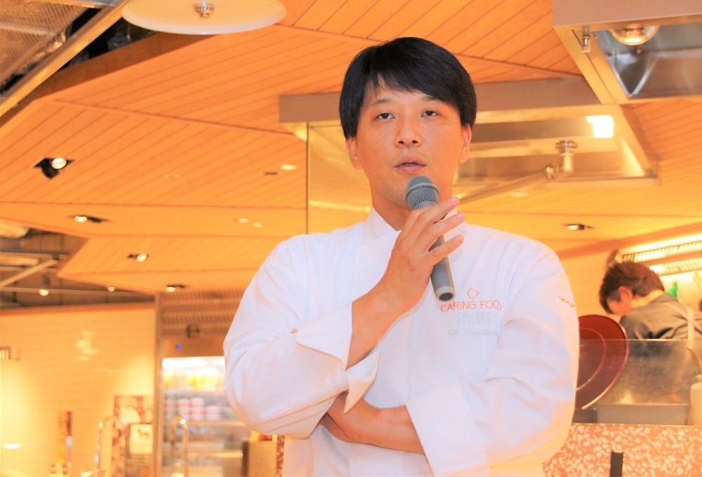 レストラン「EPICURE」のオーナーシェフ・藤春幸治さん