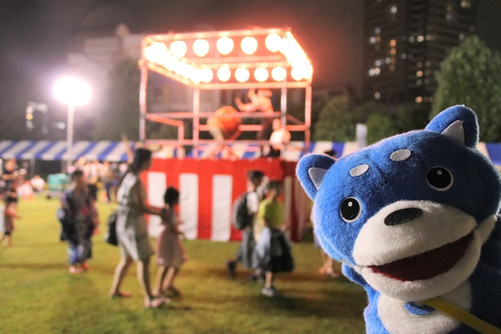 「東京五輪音頭-2020-」に初挑戦 でも踊りよりわたあめ?【カス丸とおでかけ(8)】