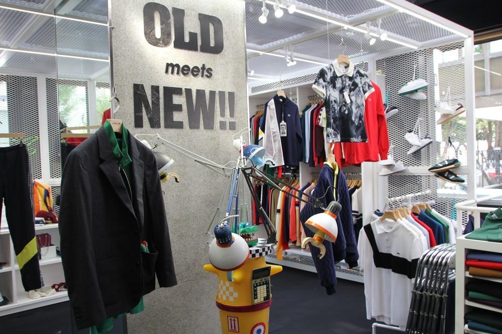 古着と新作いずれも選べる ラコステの期間限定店「OLD meets NEW」