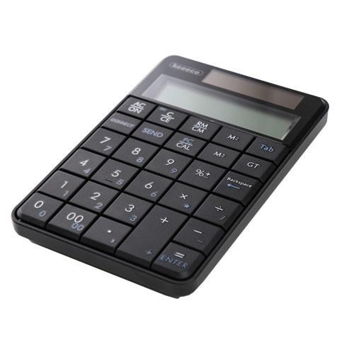 電卓としても使えるワイヤレステンキー 計算結果をワンタッチでPCへ転送
