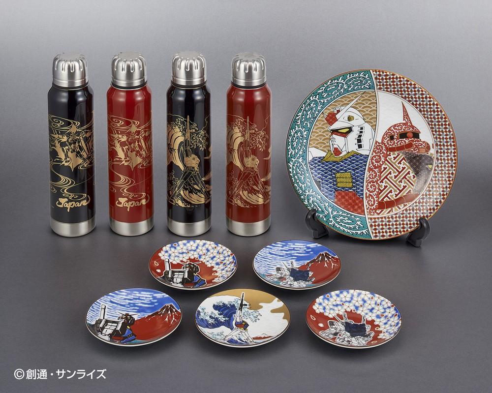 「ガンダム」と「葛飾北斎」 北陸の伝統工芸品がコラボ