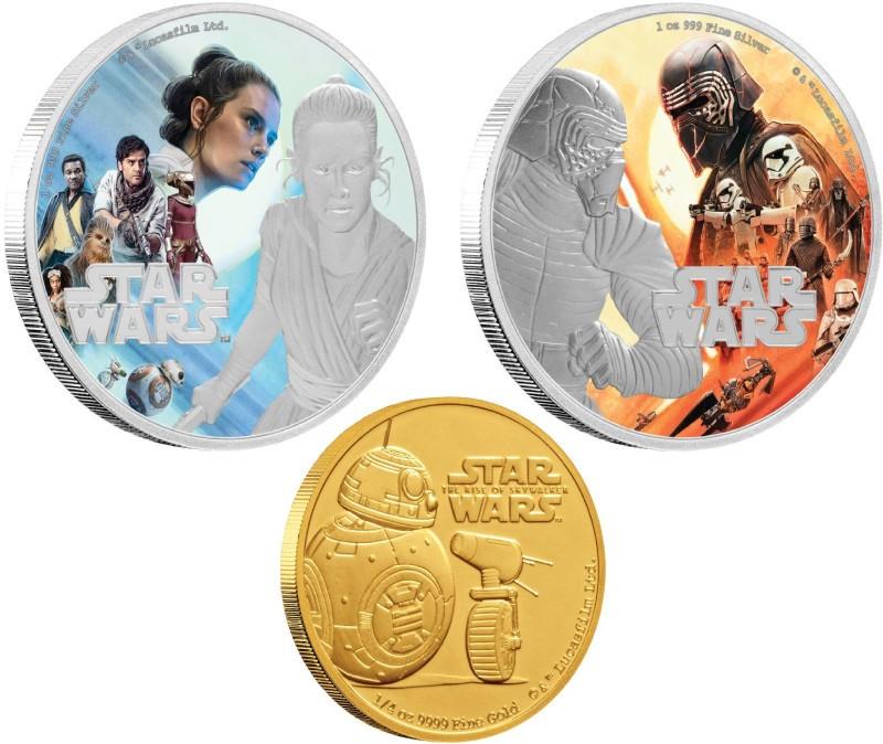 スター・ウォーズ「スカイウォーカーの夜明け」公式記念コイン全3種