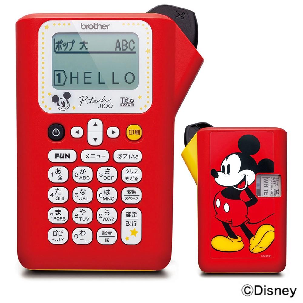 ミッキーマウスも 家庭用ラベルライターにキャラモデル4機種
