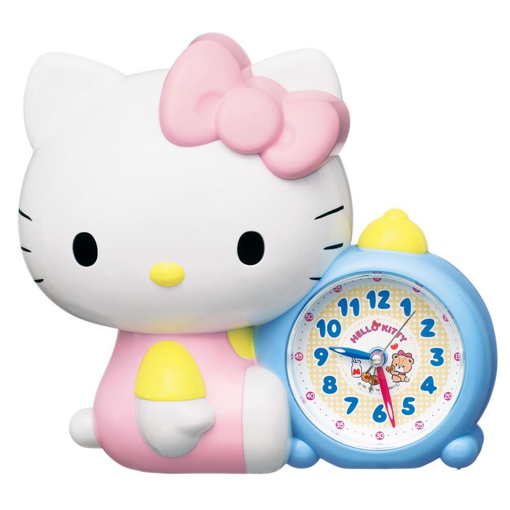 「ハローキティ」がおしゃべりで起こしてくれる目ざまし時計