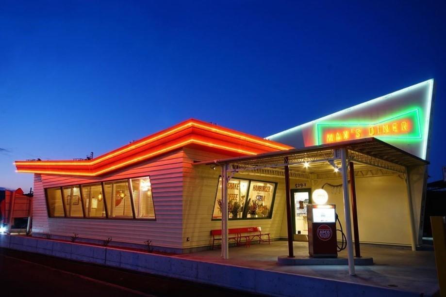 「オールドアメリカン」なハンバーガー店が話題(画像はマックスジャパン提供)