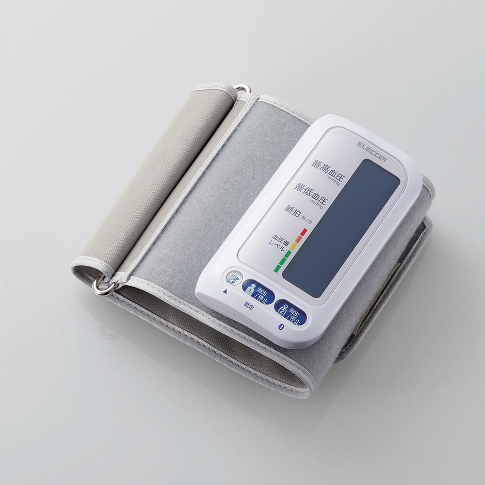 電池交換不要の充電式、いつ・どこででも血圧が測れる