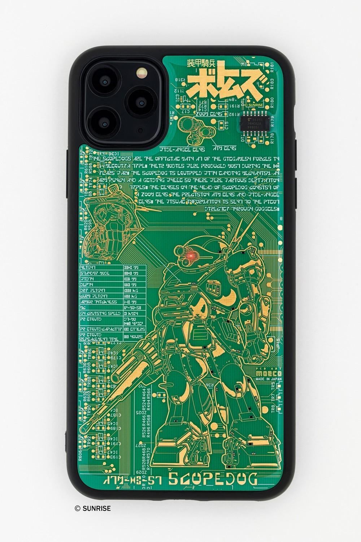 電池なしでLEDが光るiPhoneケース 「装甲騎兵ボトムズ」モデル