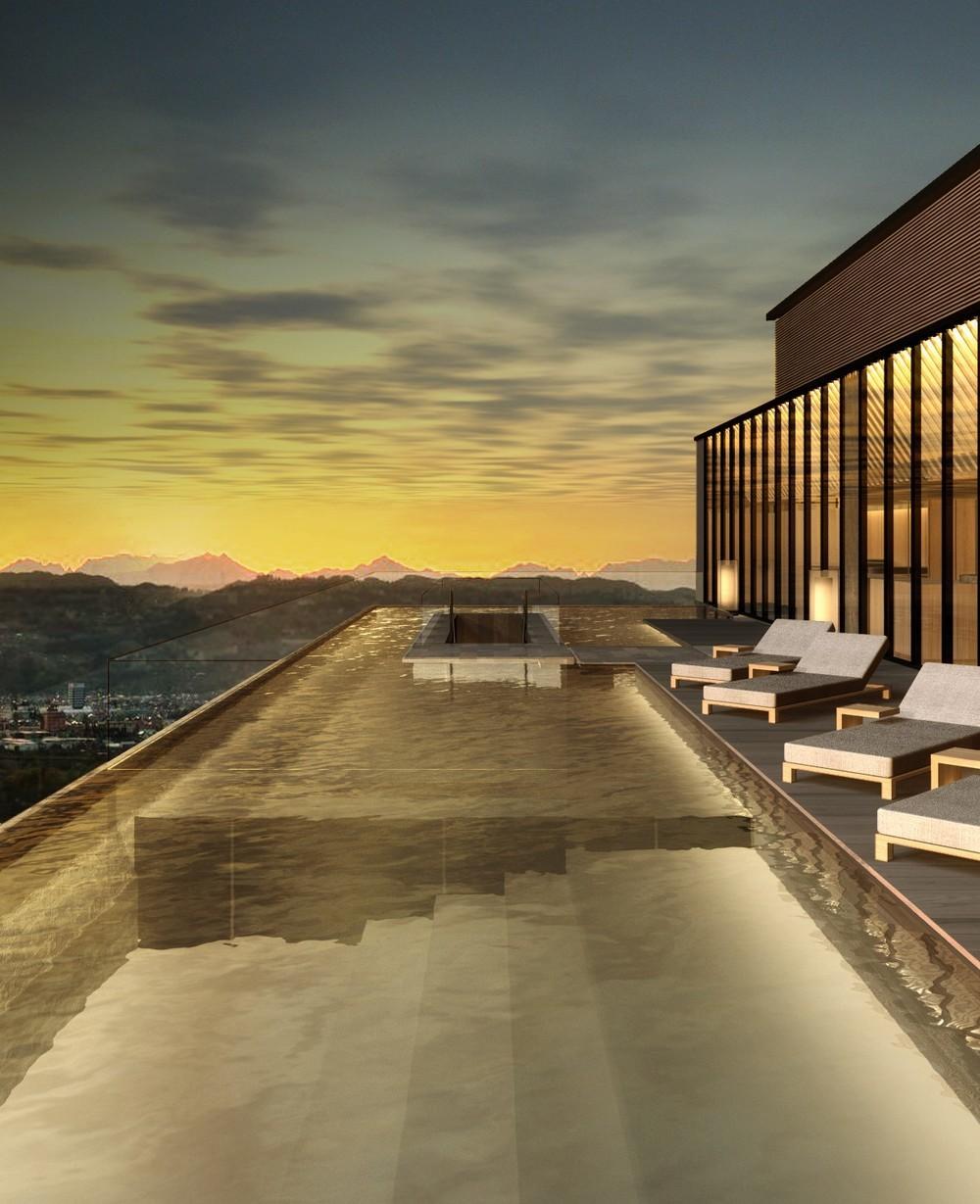 「SORANO HOTEL」最上階に設けられるインフィニティプール