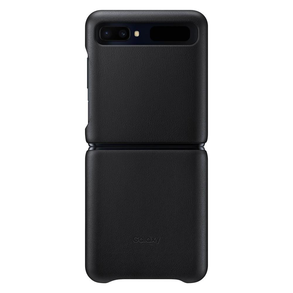 縦折りスマホ「Galaxy Z Flip」向けケース 欧州産の本革素材