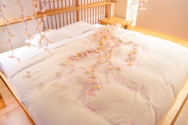 デコレーションルームでホテルでも桜鑑賞 京都嵐山