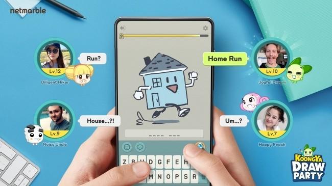 韓国で人気のモバイルゲーム リアルタイムソーシャルお絵描きクイズ、全世界リリース