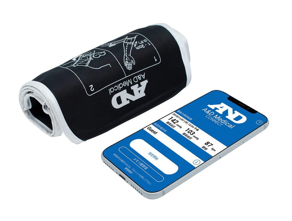 スマホと連携して測定データ管理 「ホースレス」の上腕式血圧計