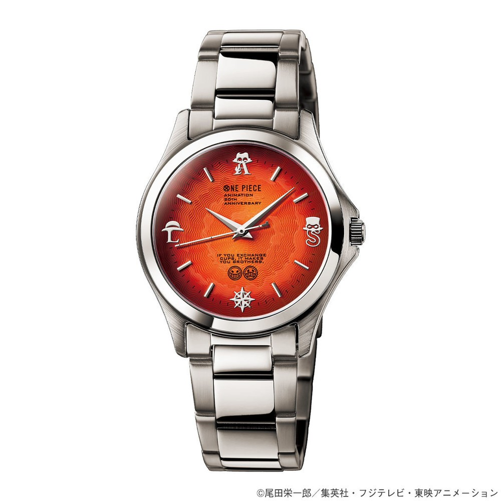「ワンピース」エース・サボ・ルフィ3人の絆を表現した腕時計
