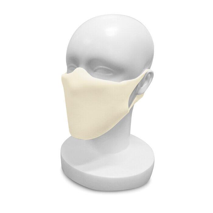 ポリウレタン製の国産マスク 優れた耐久性と伸縮性、フィルターシート付
