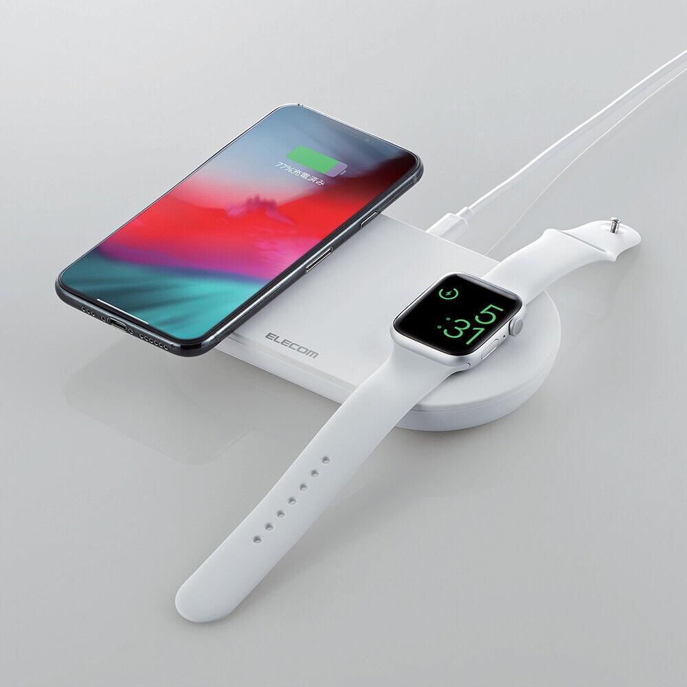 スマホと同時にApple Watchも充電できるワイヤレス充電器