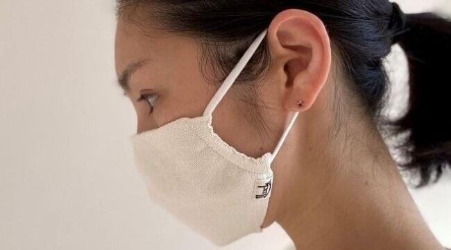 肌が弱い人でも心地良い「和紙ニットマスク」 アトピーの子向けベビー服の素材使用