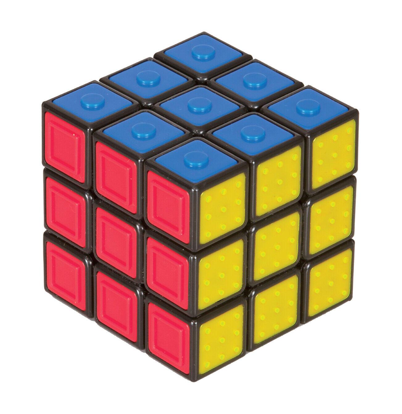「ルービックキューブ」各面に凹凸 触った感覚で揃えられる