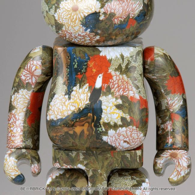 江戸時代の天才絵師・伊藤若冲の「牡丹小禽図」がベアブリックに