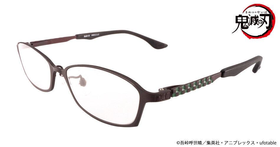 「鬼滅の刃」の「竈門炭治郎」&「禰豆子」イメージした眼鏡