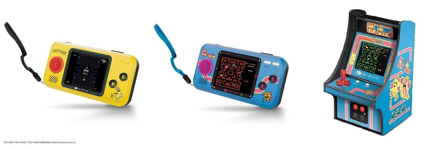 「パックマン」シリーズが遊べる小型ゲーム機3モデル